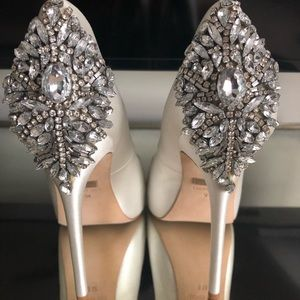 Badgley Mischka Kiara Embellished Peep Toe Pump